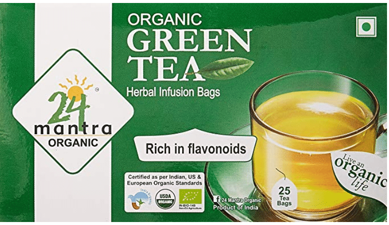 24 Mantra Organic Green Tea Bags: Packaging, Flavor And Price Details