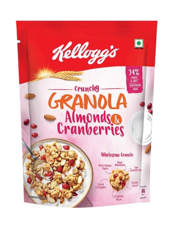 first impressions Kelloggs granola Almong Cranberries-2