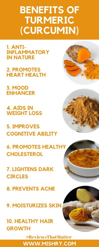 Top 10 Benefits Of Turmeric (Curcumin)