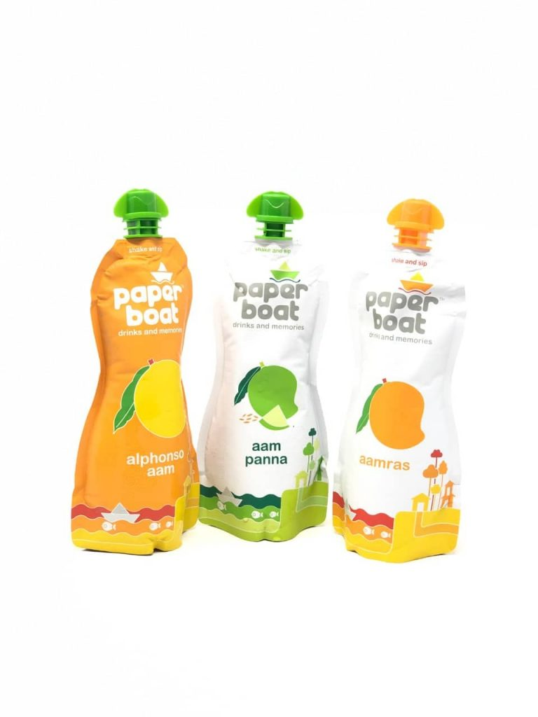 first impression of the paperboat mango drinks