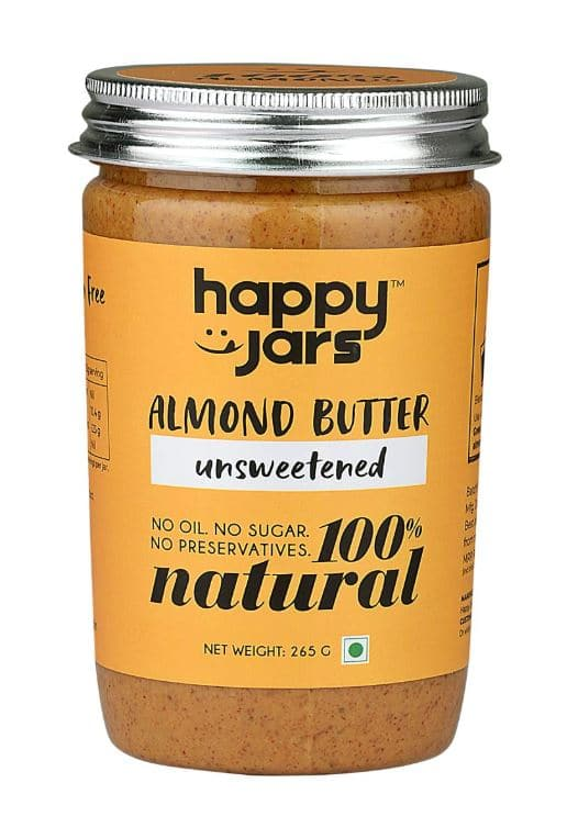 Happy Jars 100% Natural Unsweetened Almond Butter: #FirstImpressions