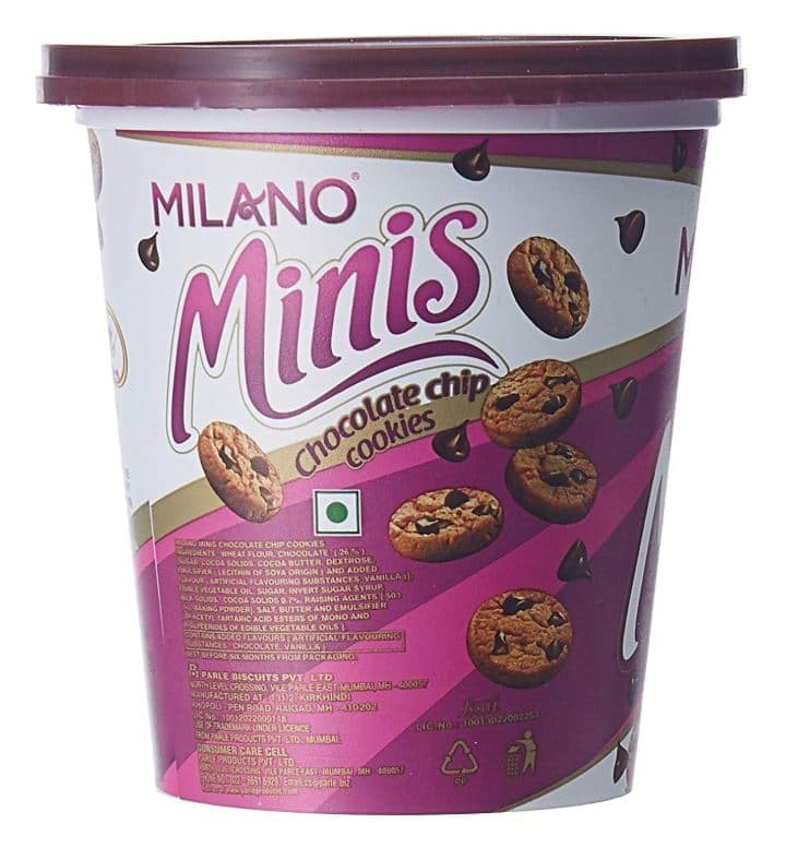 Parle's Milano Minis Chocolate Chip Cookies: #FirstImpressions
