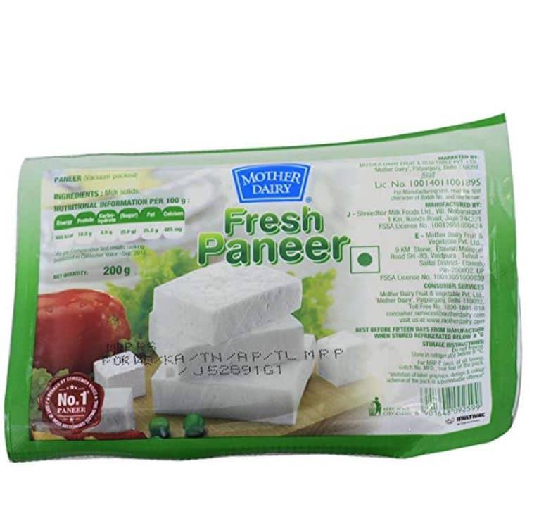 mother dairy fresh paneer