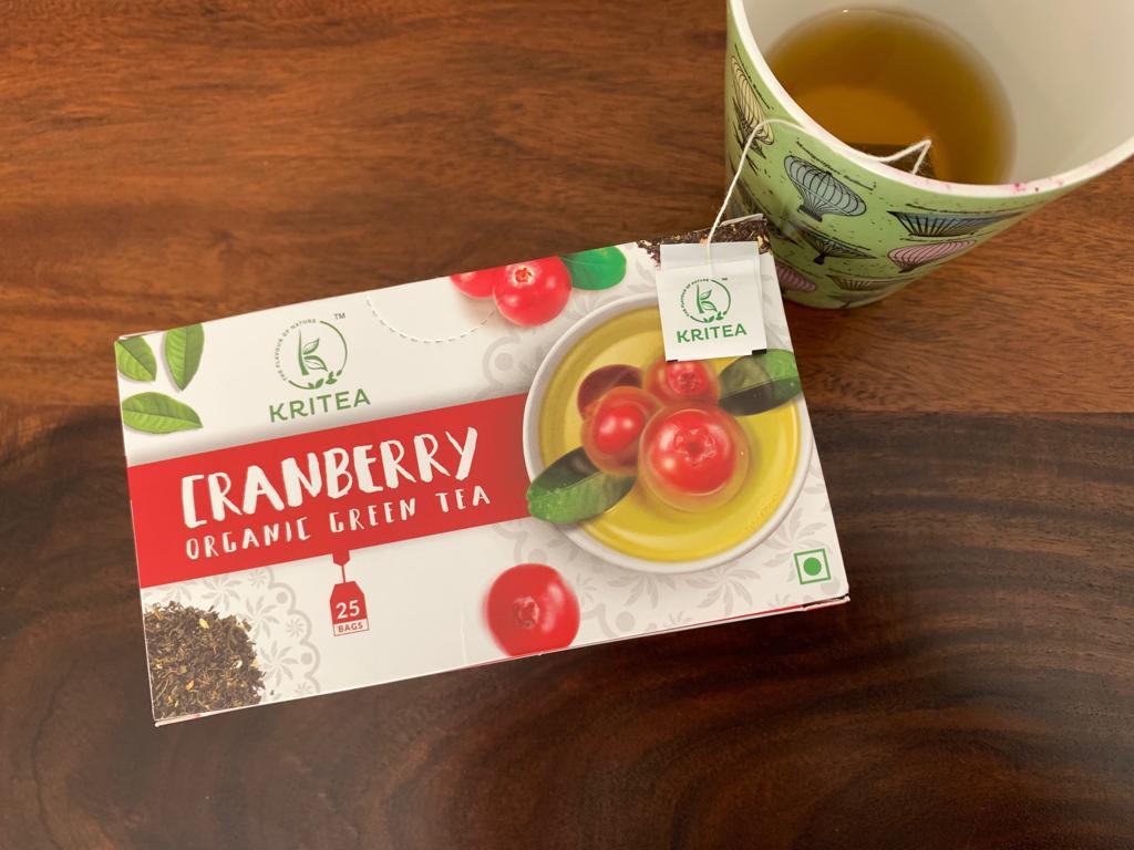 Kritea's Cranberry Organic Green Tea: #FirstImpressions: