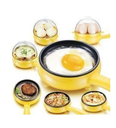 A Multifunctional Plastic Frying Pan For Egg-lovers!