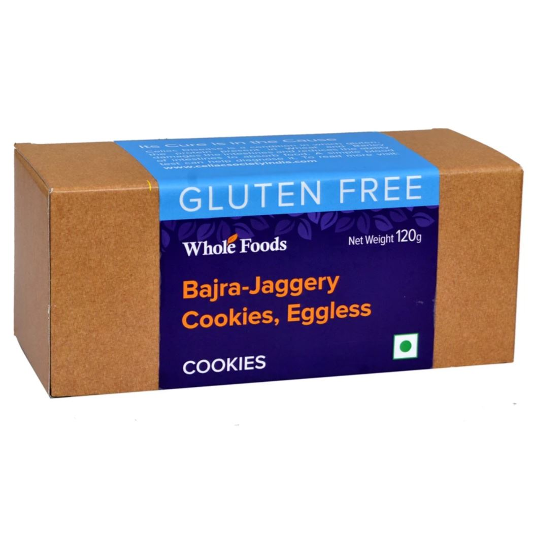 Eggless Bajra-Jaggery Cookies by Whole Foods: #FirstImpressions