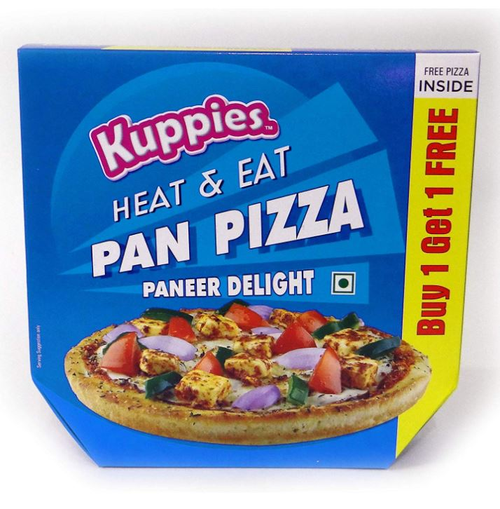 Kuppies Paneer Delight Pan Pizza: #FirstImpressions