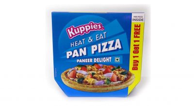 first impressions of kuppies paneer delight pan pizza