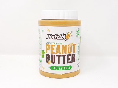 the final packaging of unsweetened peanut butter all natural