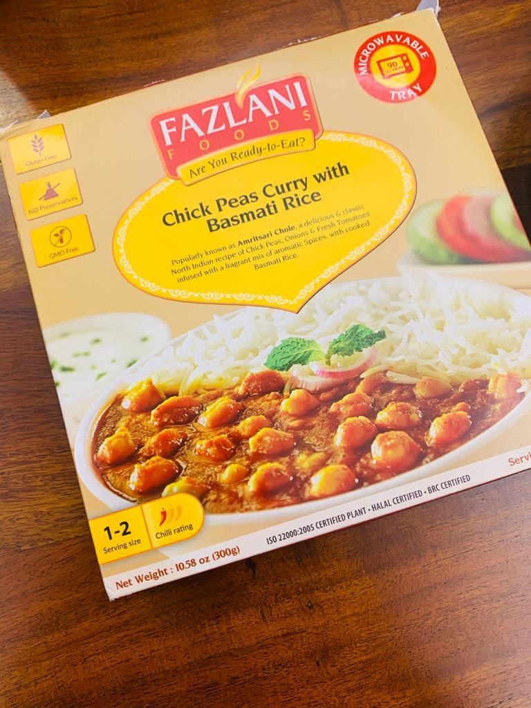 Fazlani Foods Chickpeas Curry With Basmati Rice Is Disappointing: #FirstImpressions