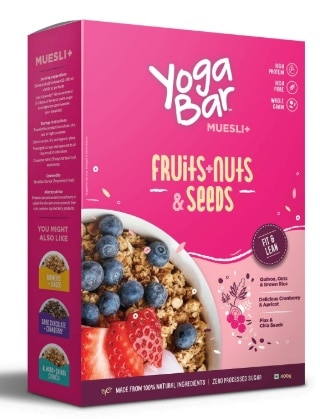 yoga bar muesli fruits nuts and seeds