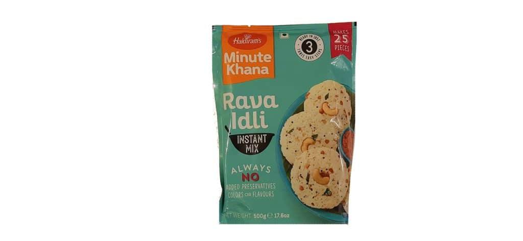 Haldiram's minute khana - rava idli