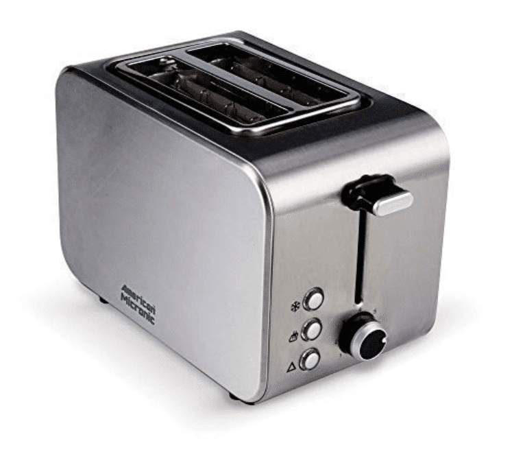 American Micronic AMI-TSS1-85Dx-2-Slice Imported Stainless Steel Pop-up Toaster
