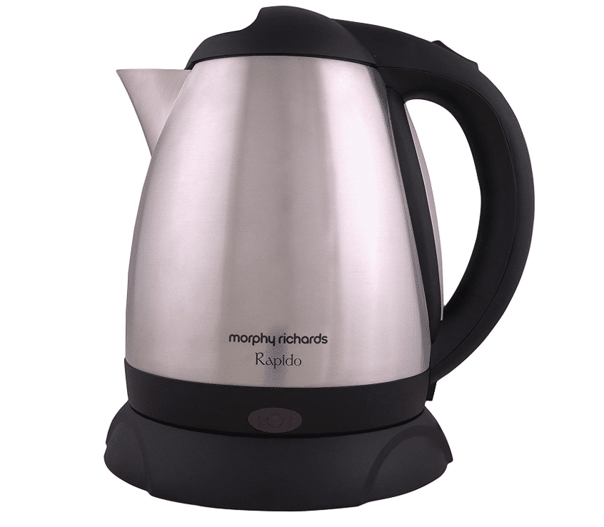 Morphy Richards Rapido 1.8 L Stainless Steel Electric Kettle- Top electric kettles in India 2020