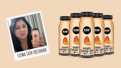 raw presseery mango almond milk review