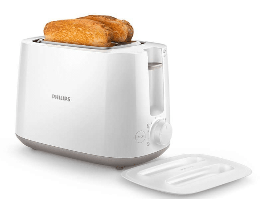 Philips Daily Collection HD2582/00 830-Watt 2- Slice Pop-up Toaster