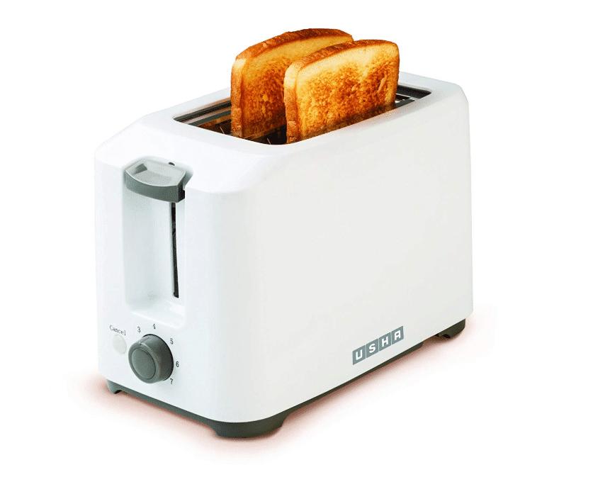 Usha 3720 700-Watt 2-Slice Pop-up Toaster- best toaster in India