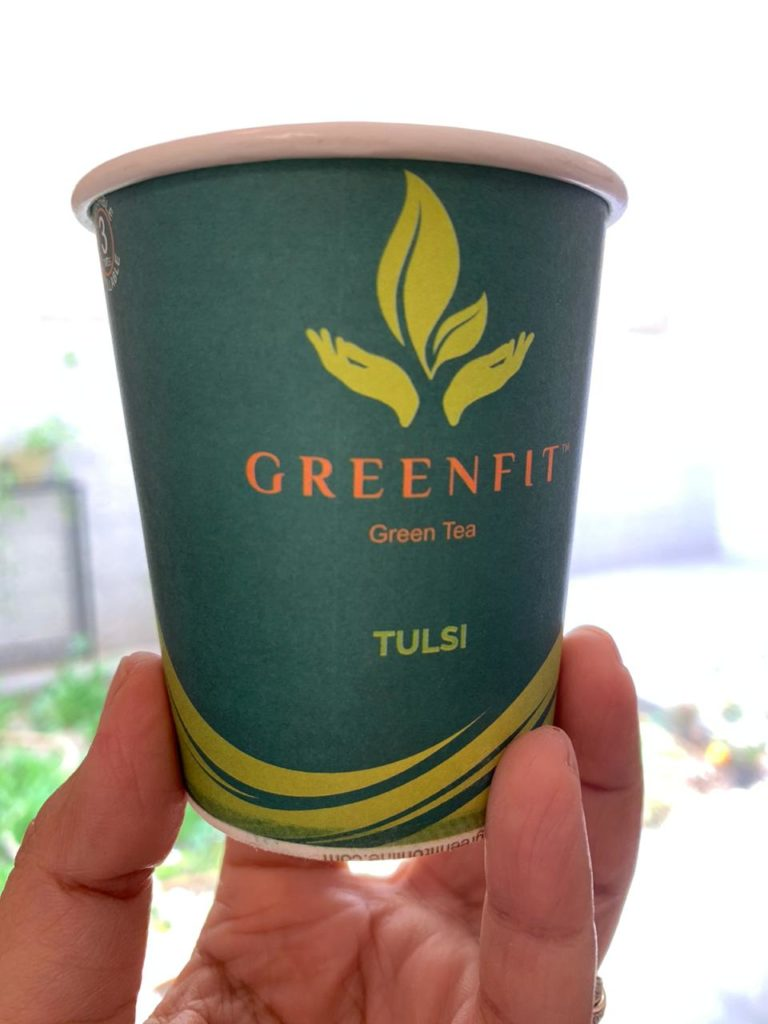 GreenFit Green Tea Paper Cup (Tulsi Flavor) Review