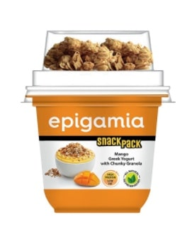Epigamia Snack Pack Review – Mango Greek Yogurt with Chunky Granola