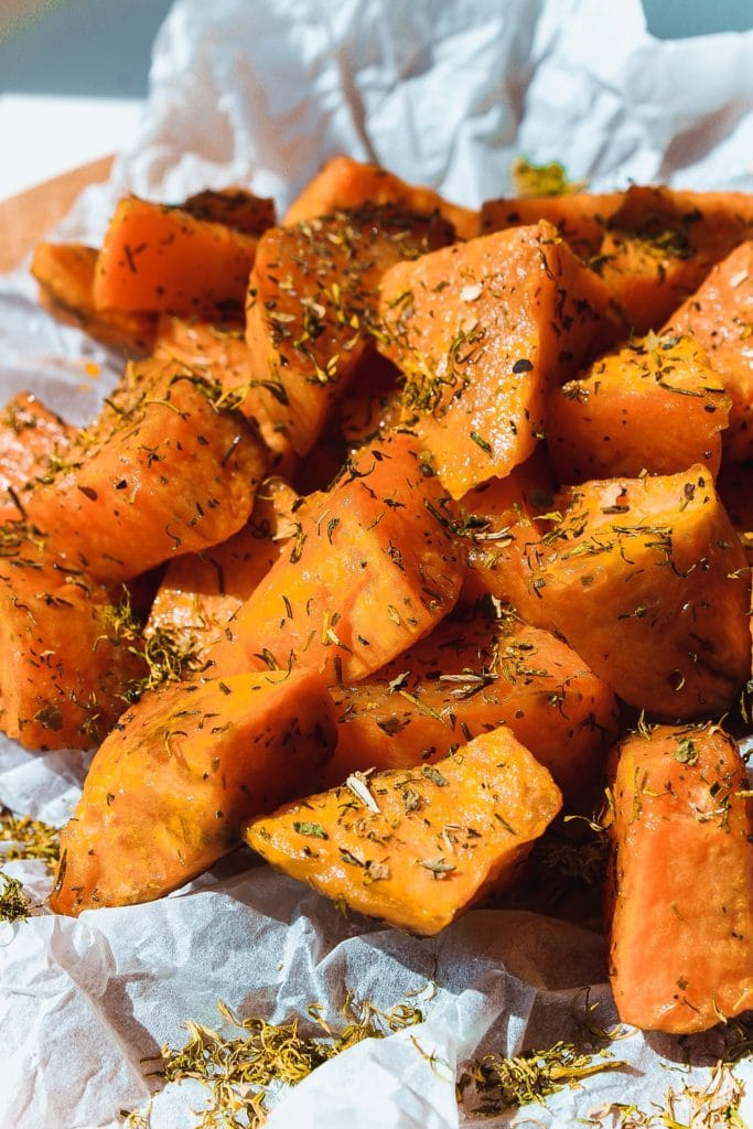 foods for hair growth - sweet potato