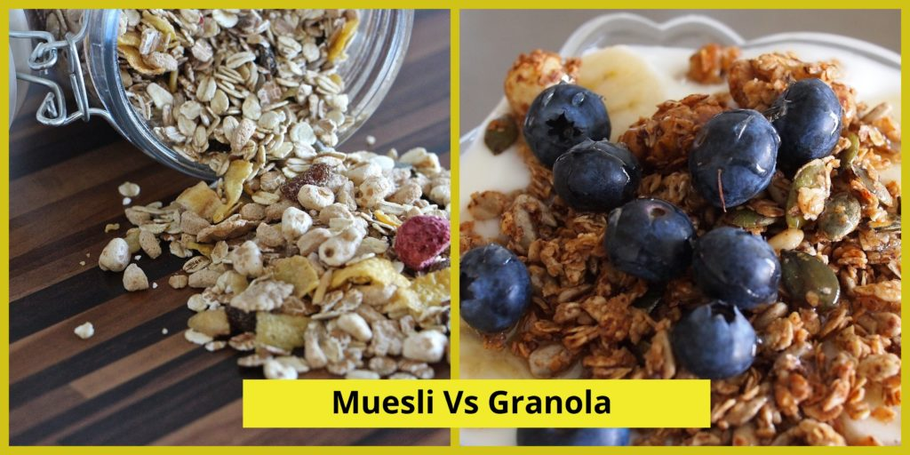 Muesli Vs Granola - Which is the healthier breakfast option? Let's find out.