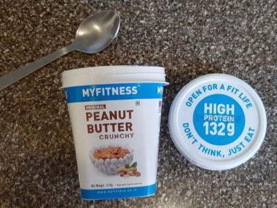 the final packaging of peanut butter crunchy