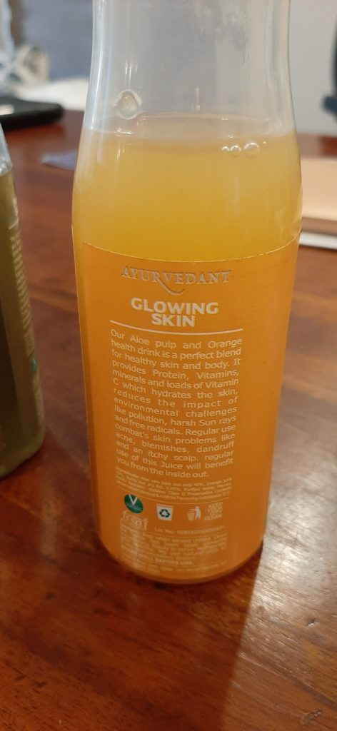 Baidyanath's Aloe Vera Juice Label