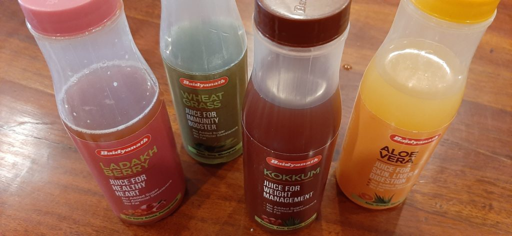 Baidyanath Juices are packed
