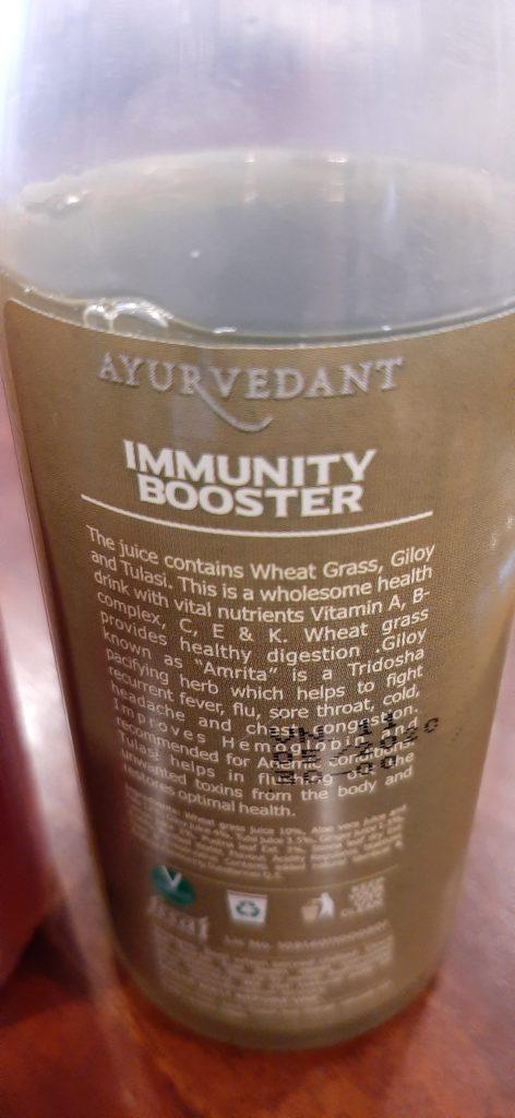 Baidyanath's Wheatgrass Juice Label