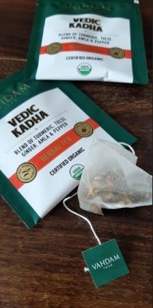 unboxed vedic kadha herbal tea bag