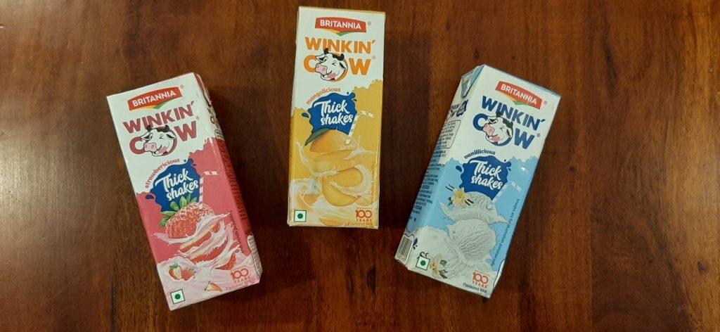britannia winkin' cow milkshakes