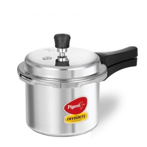 pigeon by stovekraft favourite outer lid non-induction aluminum pressure cooker