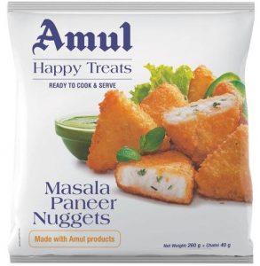 amul happy treats masala paneer nuggets
