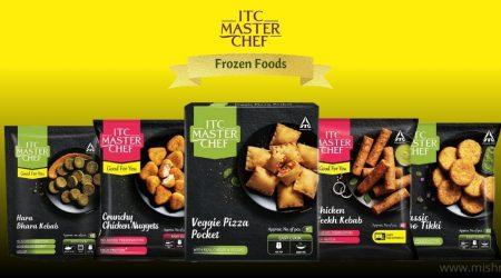 itc master chef frozen veg and non-veg snacks