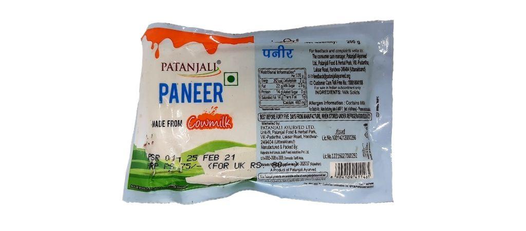 Patanjali Paneer