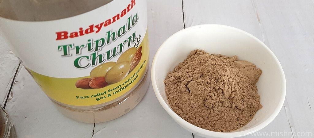baidyanath's triphala churn ingredients
