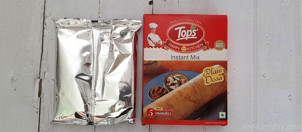 tops plain dosa instant mix review