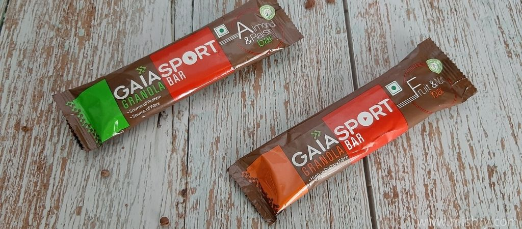 Packaging of the gaia granola bars