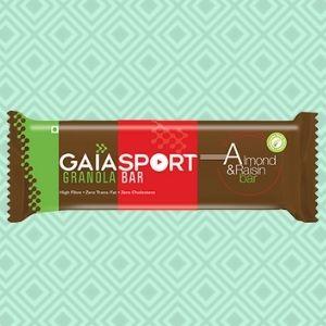 gaia sport almond and raisin bar