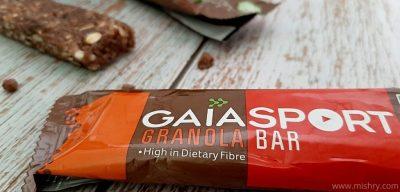 gaia sport granola bars review