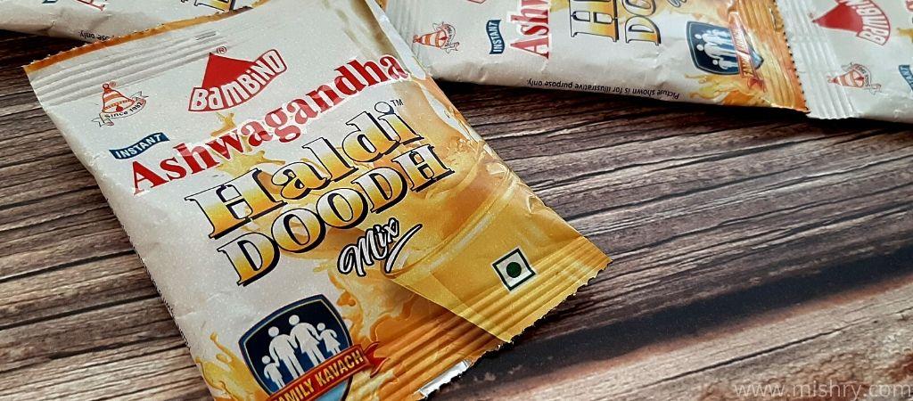 bambino haldi doodh ashwagandha packaging