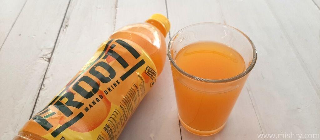 frooti mango drink taste test