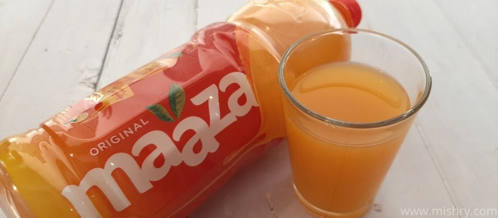 maaza mango drink taste test