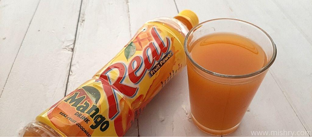 real mango drink taste test