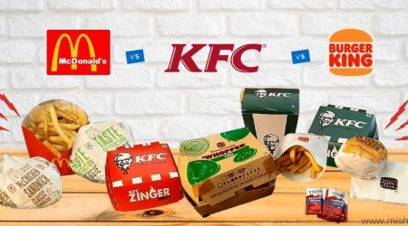 KFC vs McDonalds vs Burger King