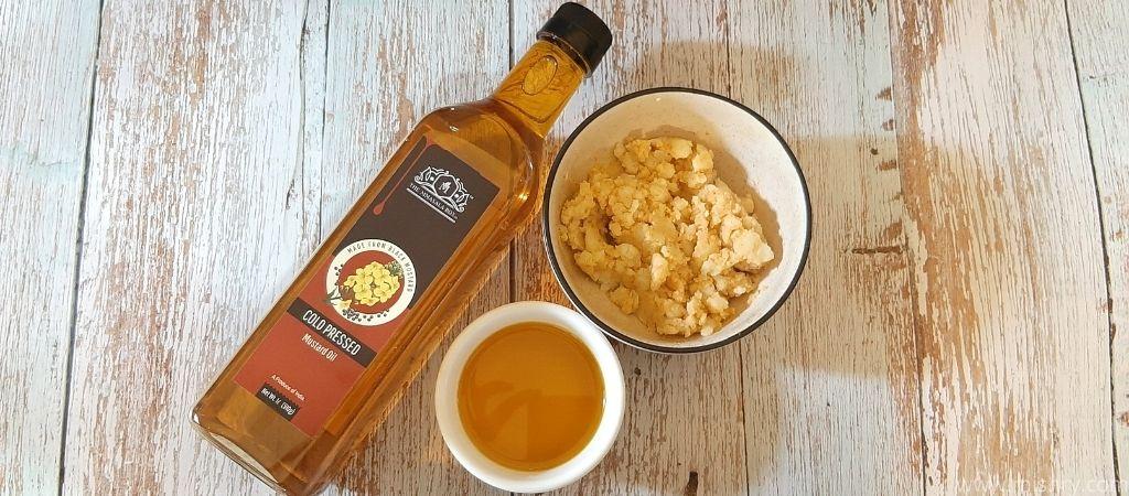 aloo chokha made with the mmasala box mustard oil