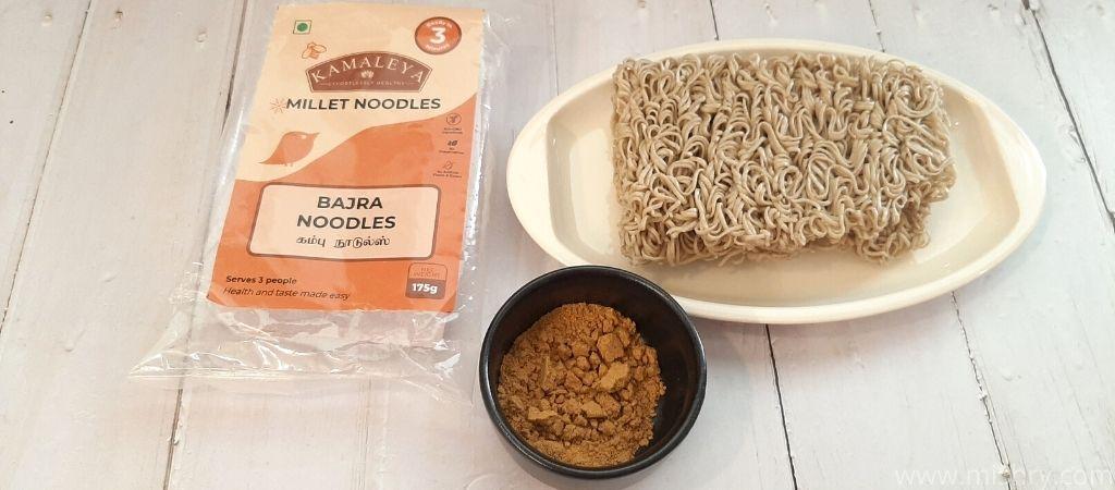 bajra noodles packet contents