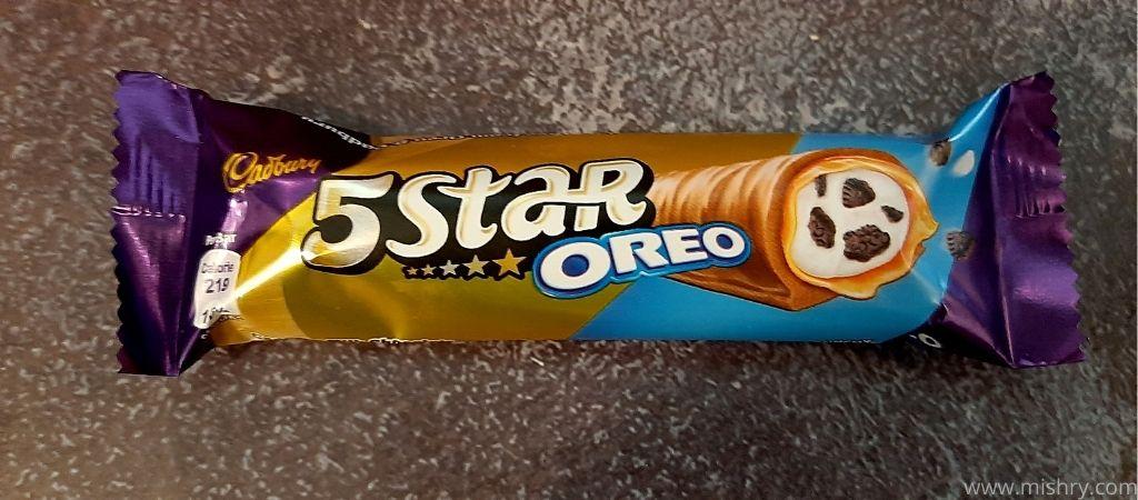 cadbury 5 star oreo chocolate bar packaging