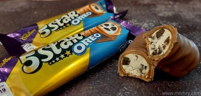 cadbury 5-star oreo chocolate bar review