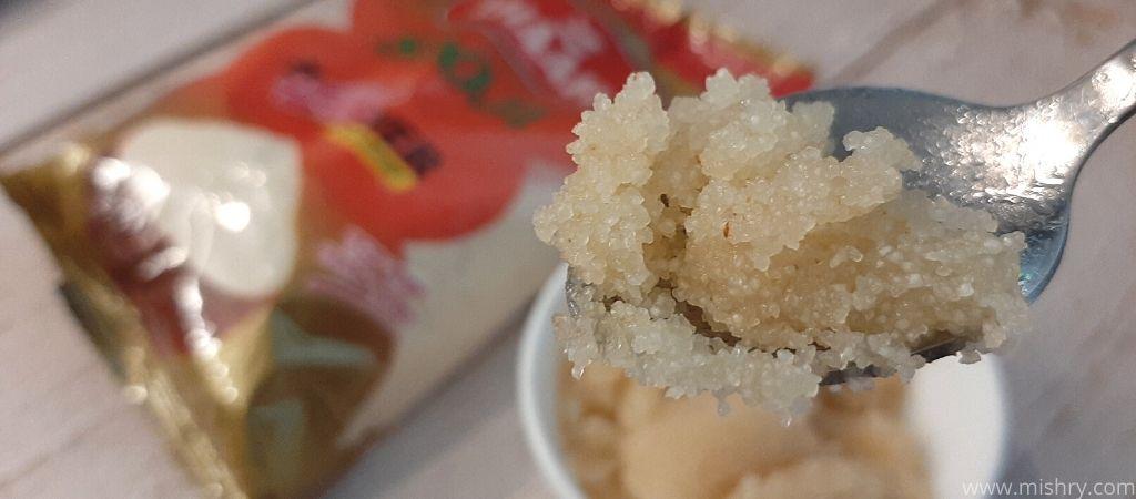 closer look at halwa made of ahaar sooji
